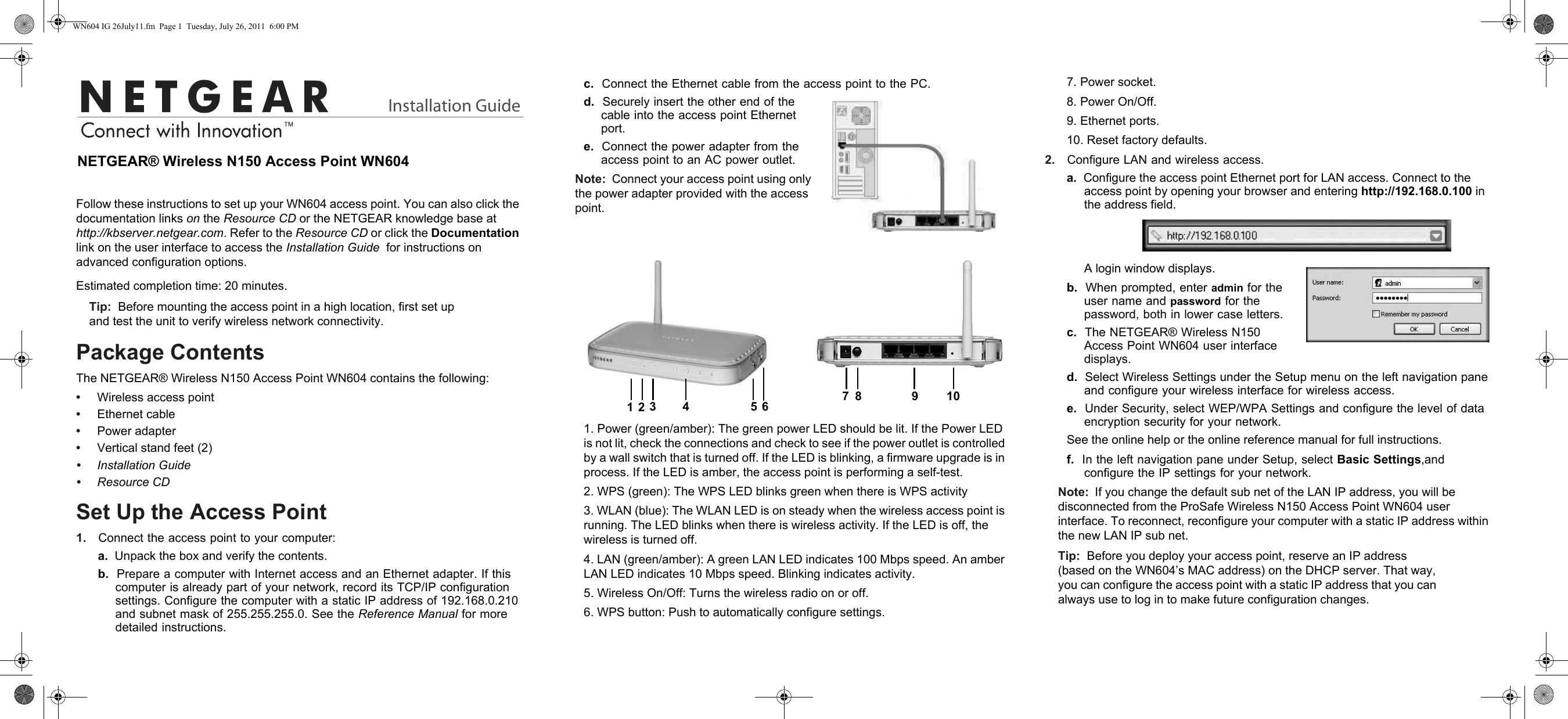 Netgear Wn604 Ieee 802 11N 150 Mbps Wireless Access Point
