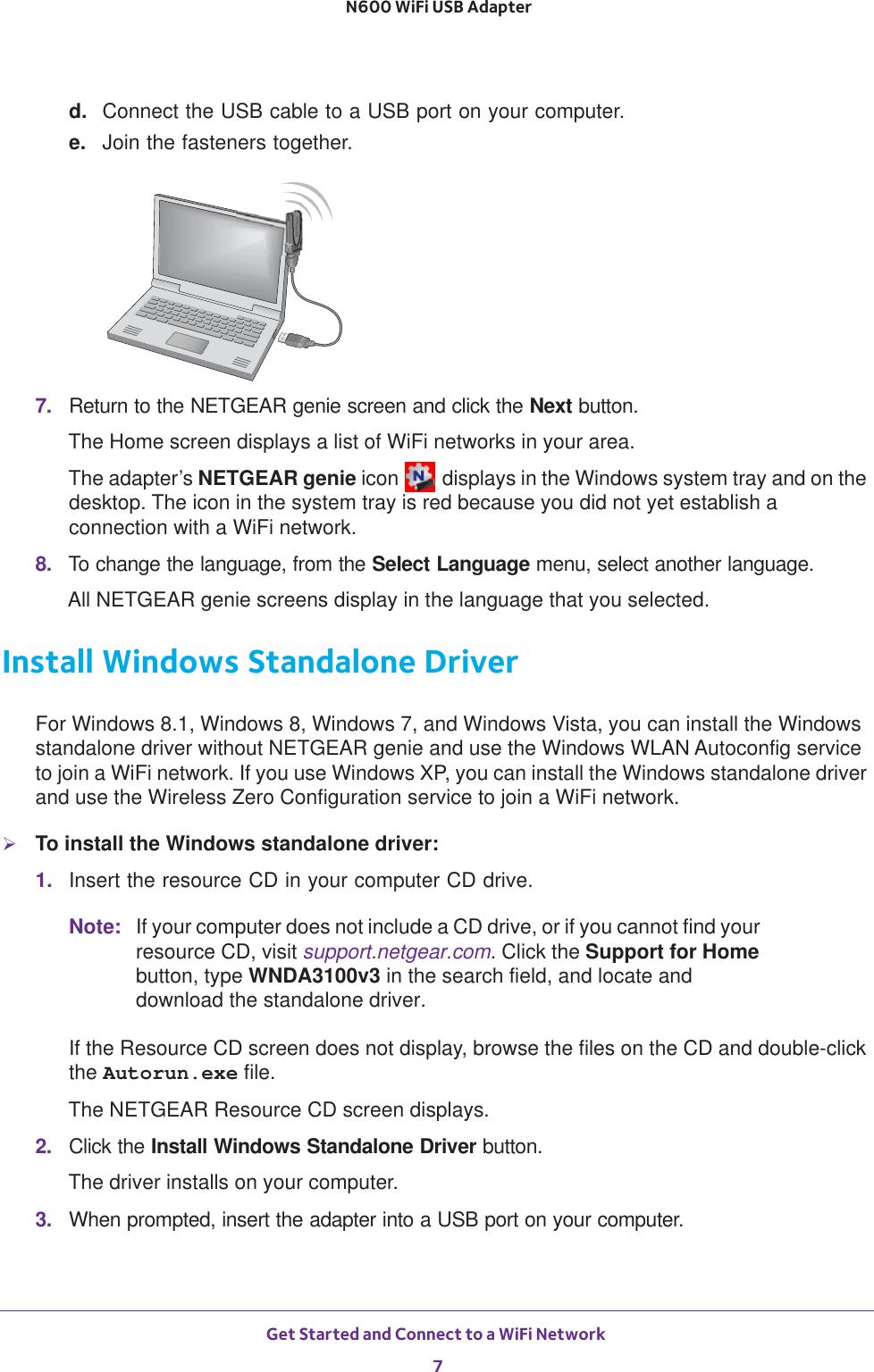 Netgear Wnda3100V3 User Guide N600 WiFi USB Adapter