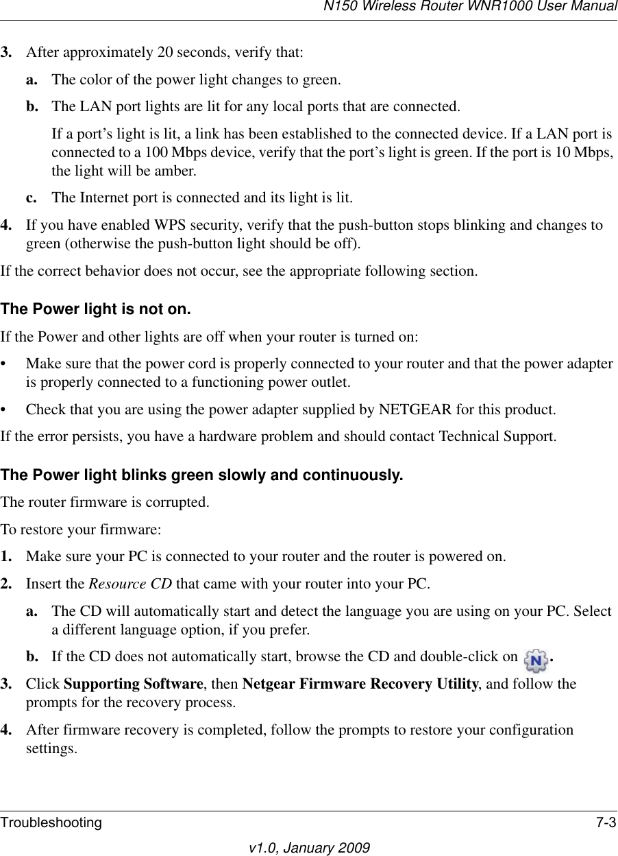 Netgear Wnr1000V1 Owner S Manual Reference For The RangeMax