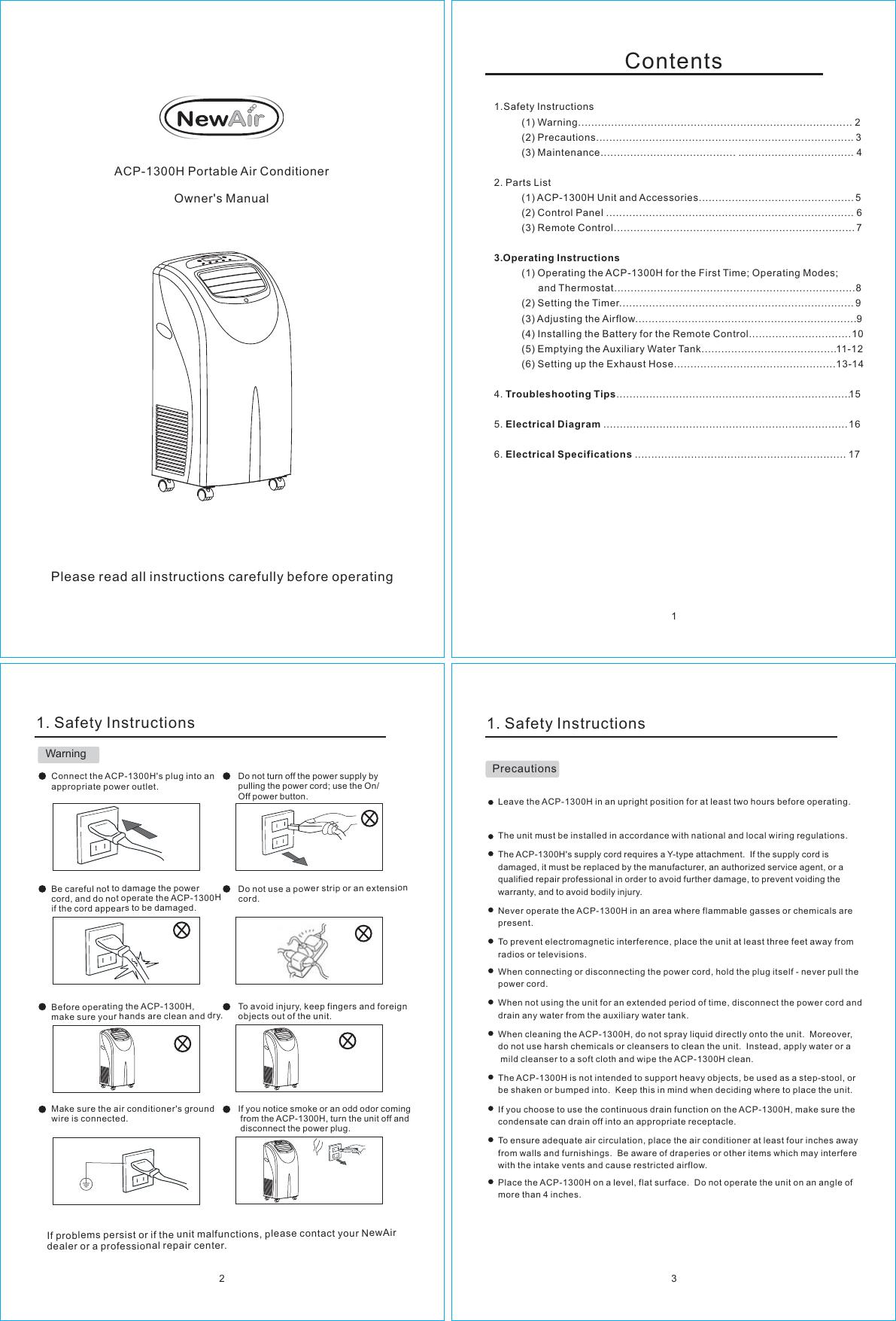 Newair Acp 1300H Users Manual Ooad04\华源 (G)\2008\FJ\3.1...UserManual.wiki