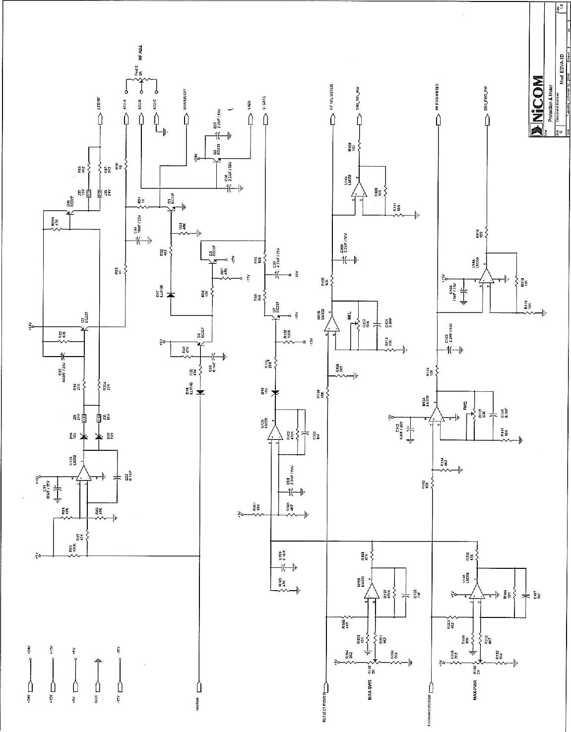 Nicom Usa Nt1000fp09 Fm Transmitter User Manual 2 Circuit Diagram