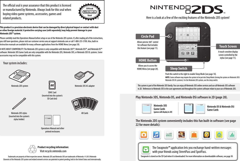 nintendo co ftr001n portable game machine user manual rh usermanual wiki Nintendo DS Lite Nintendo DS Games