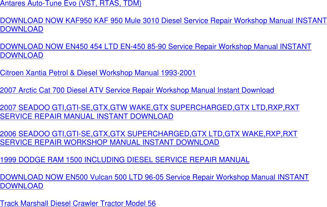 citroen xantia 1993 2001 service repair manual