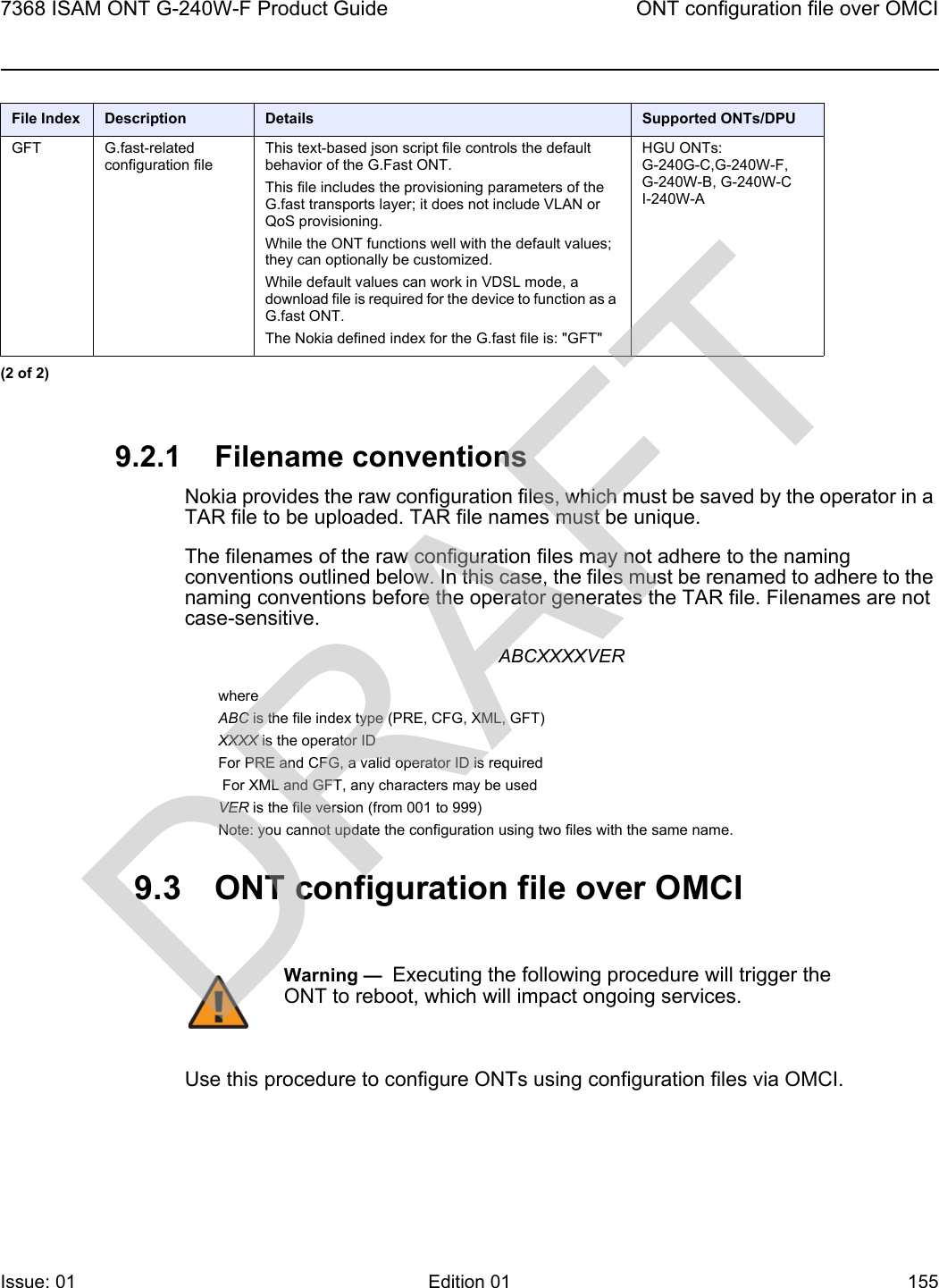Nokia Bell G240WF G-240W-F User Manual 7368 ISAM ONT G 240W