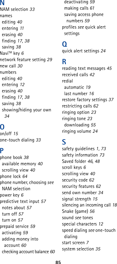Nokia 5165 Users Manual Santrai diagram