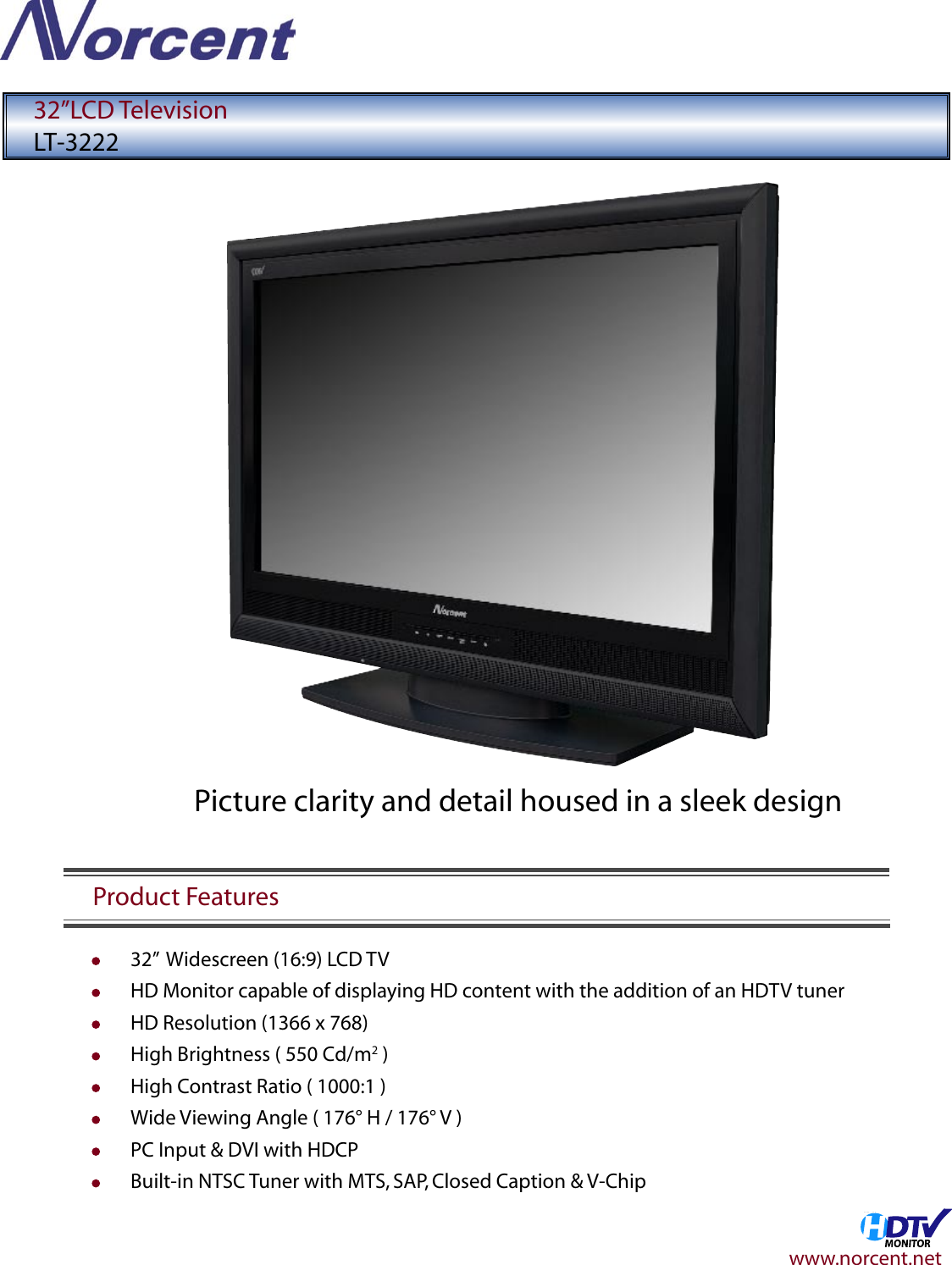 norcent lt 3222 users manual spec1 rh usermanual wiki Norcent TV Buttons Norcent TV Parts