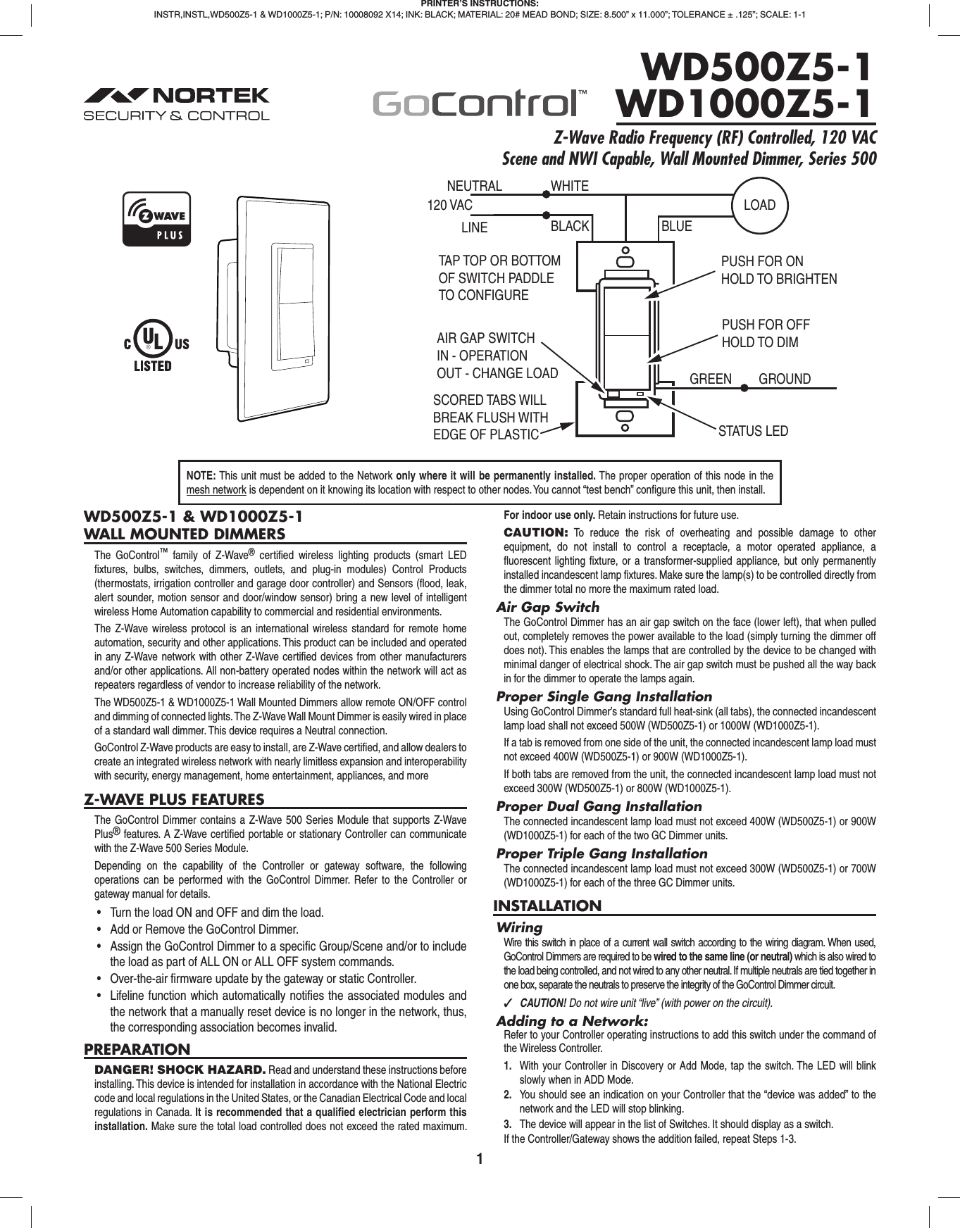 Emergency Lighting With Dimming Control Manual Guide