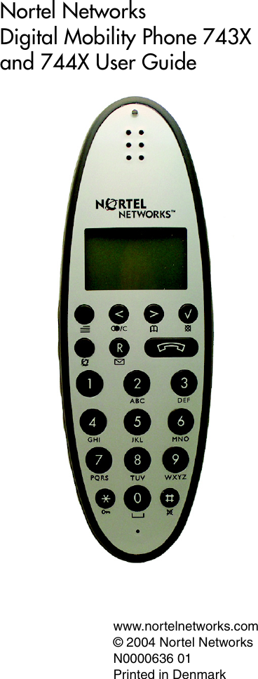 Nortel Networks 743X Users Manual Digital Mobility Phone And 744X