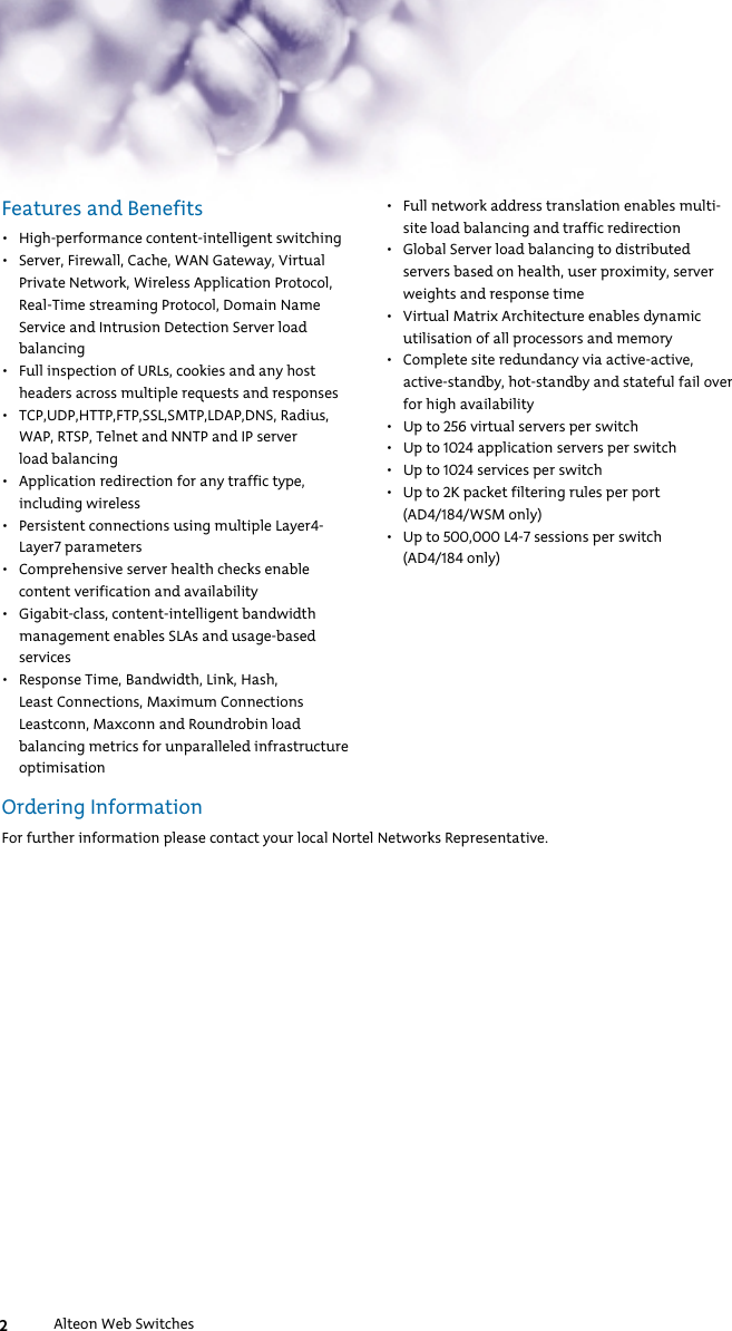 Nortel Networks 9115 Users Manual Product And Solution
