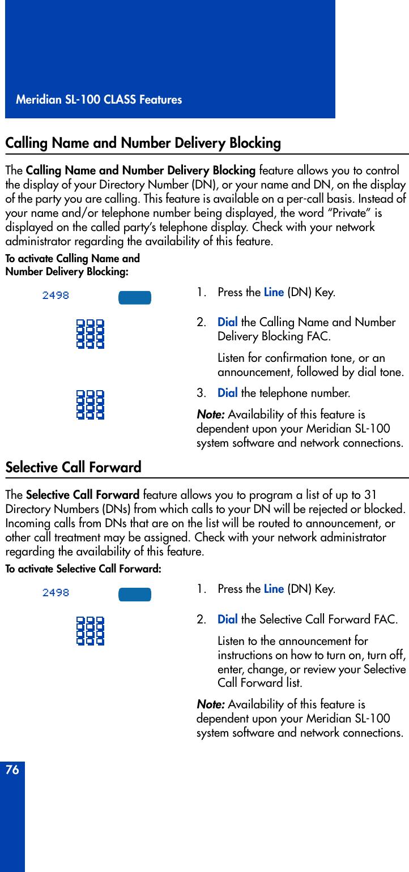 Nortel Networks Meridian M3901 Users Manual Digital