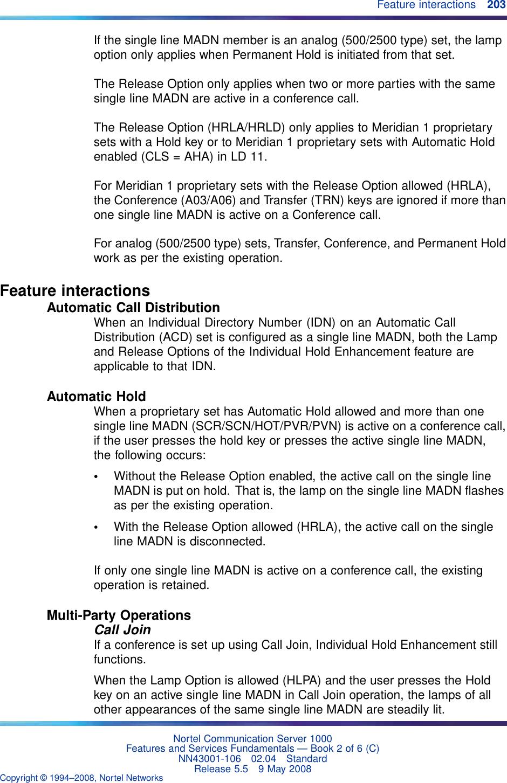 Nortel Networks Nn43001 106 Users Manual Communication