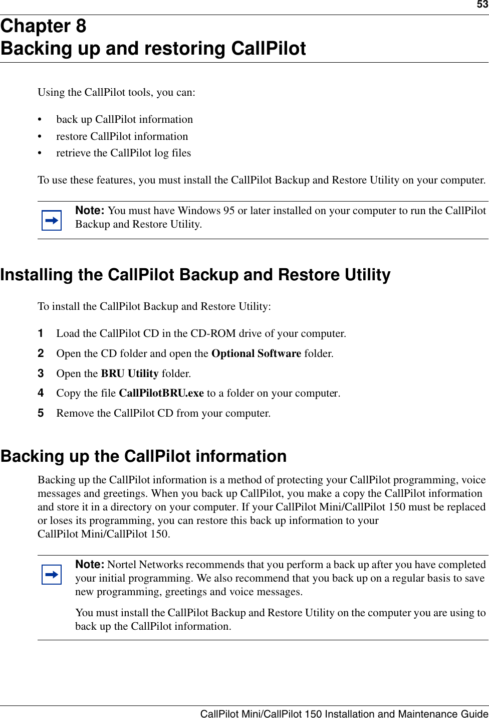 Nortel Networks Switch P0990474 03 Users Manual CallPilot