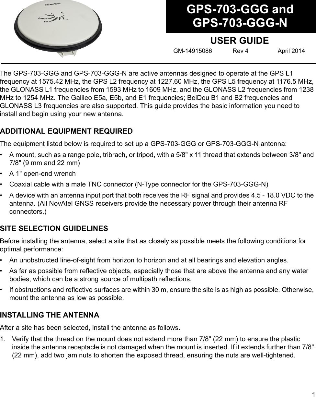 Novatel GPS 703 GGG Rev 4 User Manual To The Cefd8293 0af0