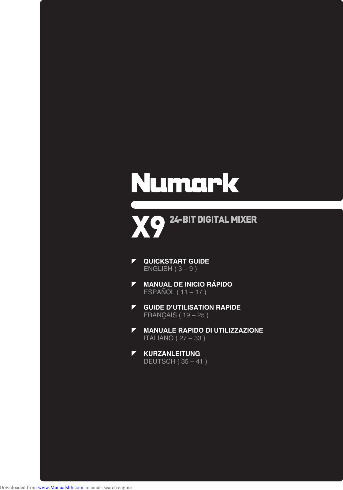 Numark X9 Quick Start Guide ManualsLib Makes It Easy To Find