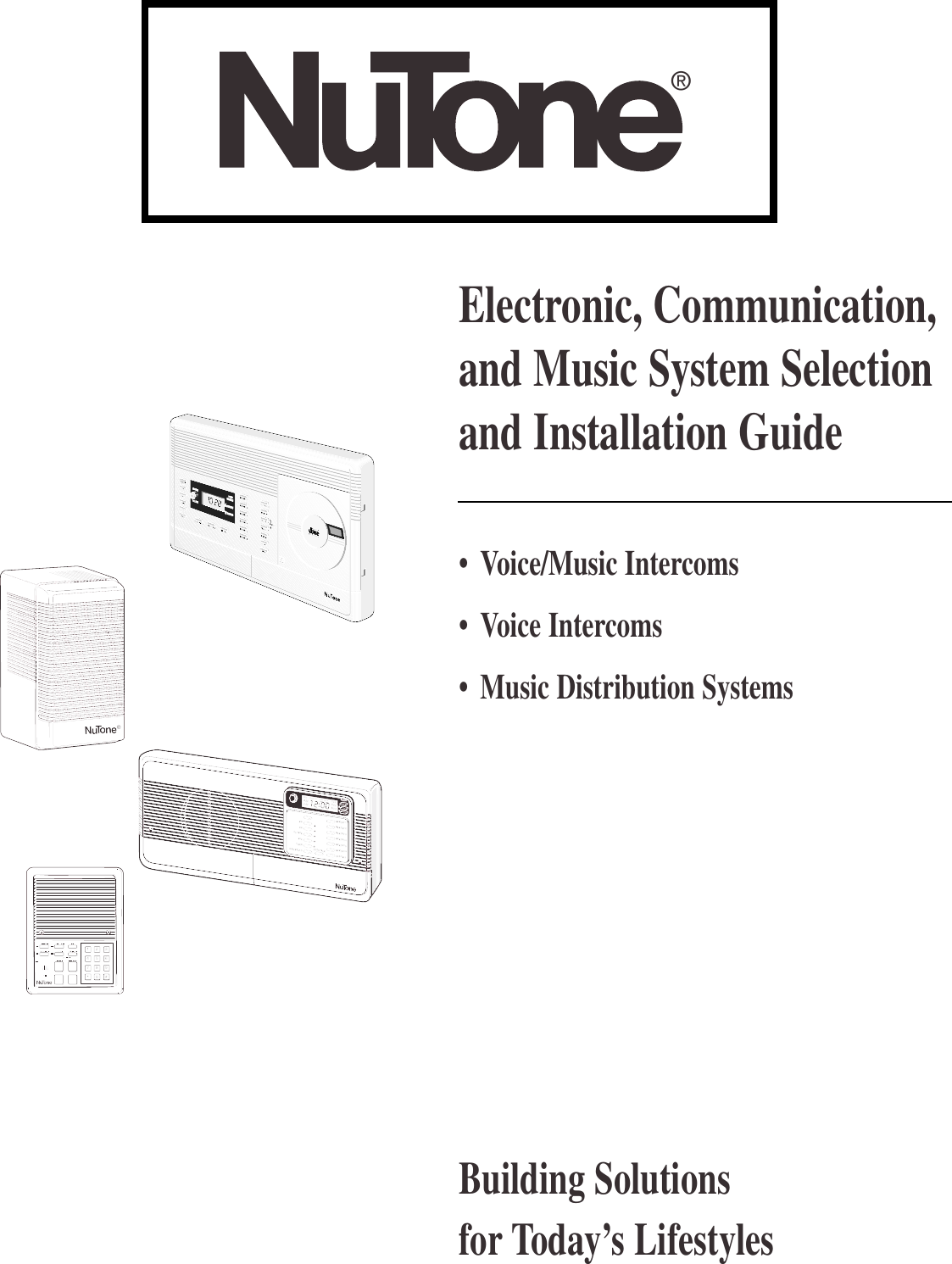 Nutone Intercom System Ik 25 Users Manual FS 1600 Guide on