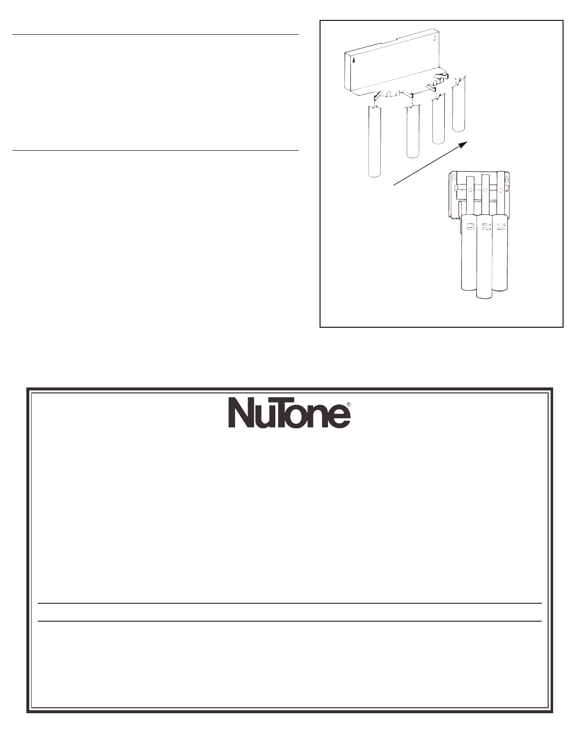 Nutone La 151wm Users Manual 37990 Instruction Sheet Volume Control Wiring Diagram For Wall Product Specifications Subject To Change Without Notice Printed In Usa Rev 12 96 Part No