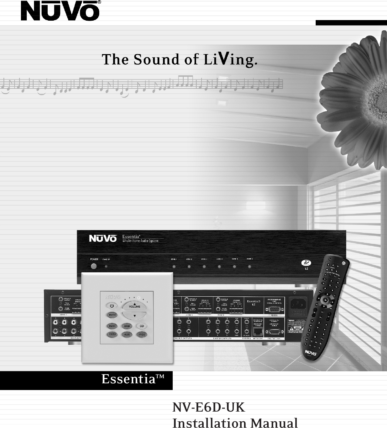 Nuvo Home Theater System Nv E6D Uk Users Manual Installation ... Nuvo Essentia Wiring Diagram on