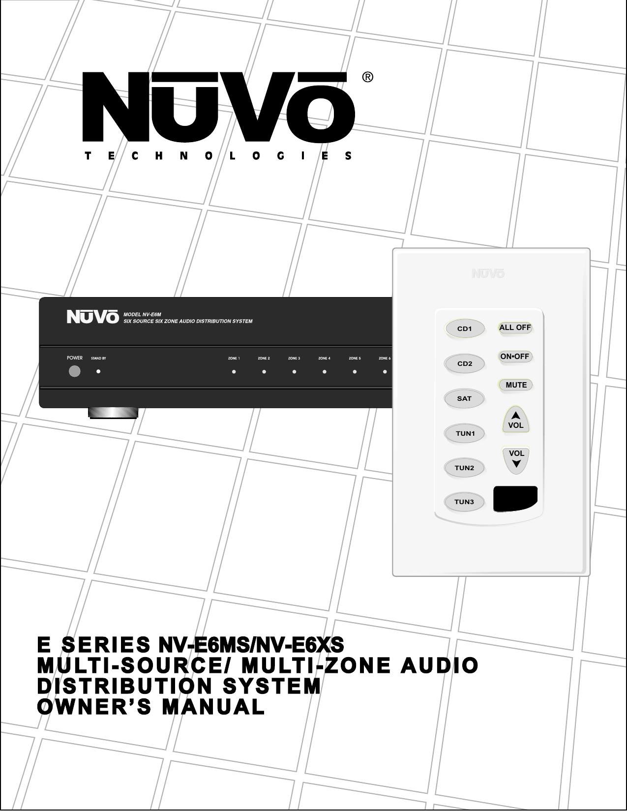 Nuvo Nv E6ms Users Manual 23w Dual Audio Power Amplifier Circuit