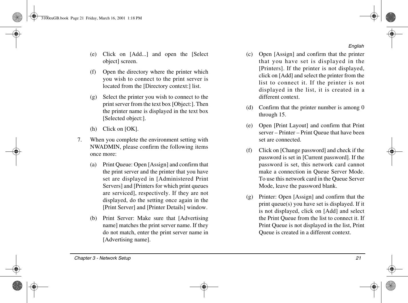 Oki Lan 3100E Users Manual