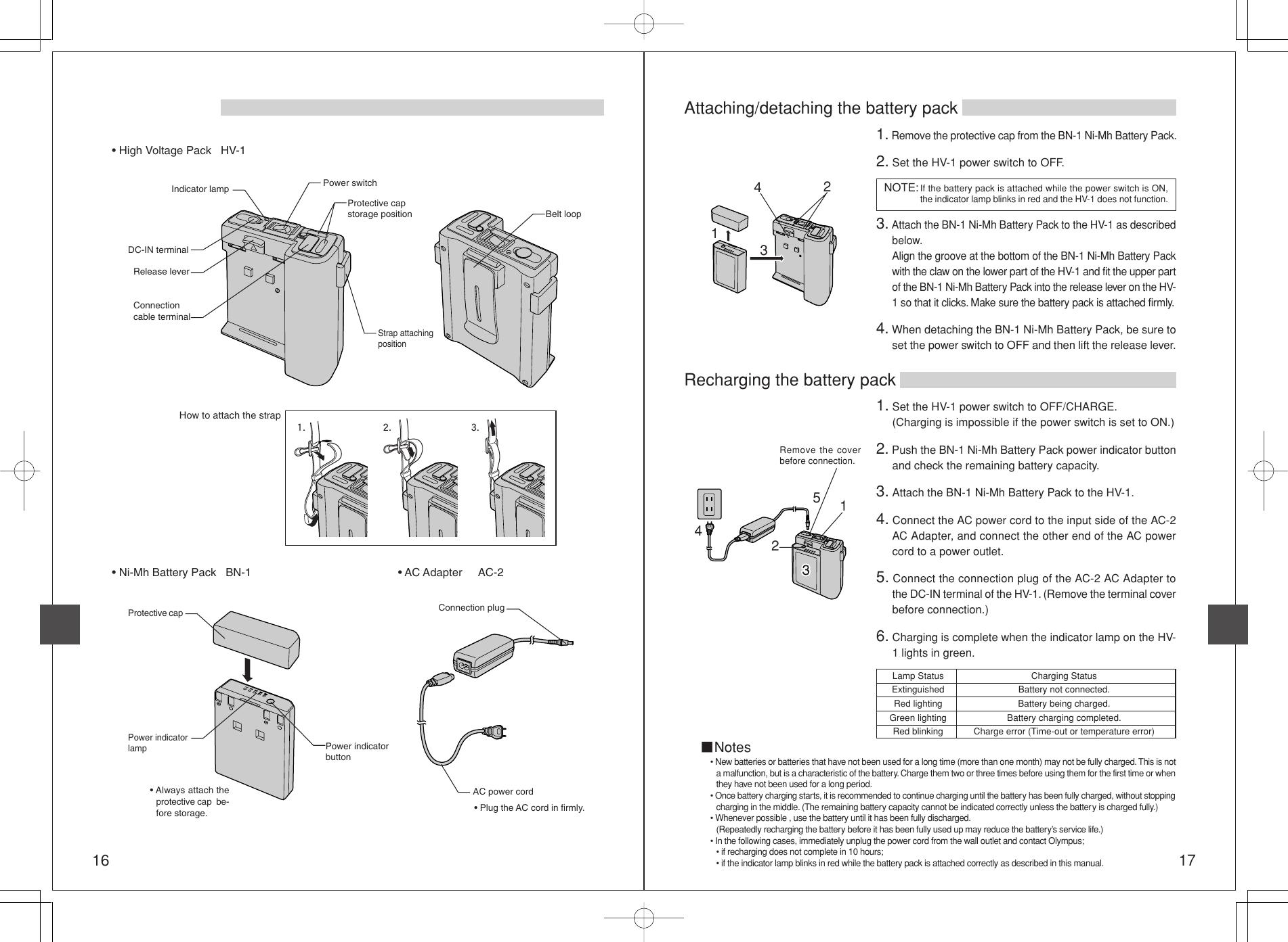 Olympus Shv 1 Users Manual Flash High Voltage Set INSTRUCTION