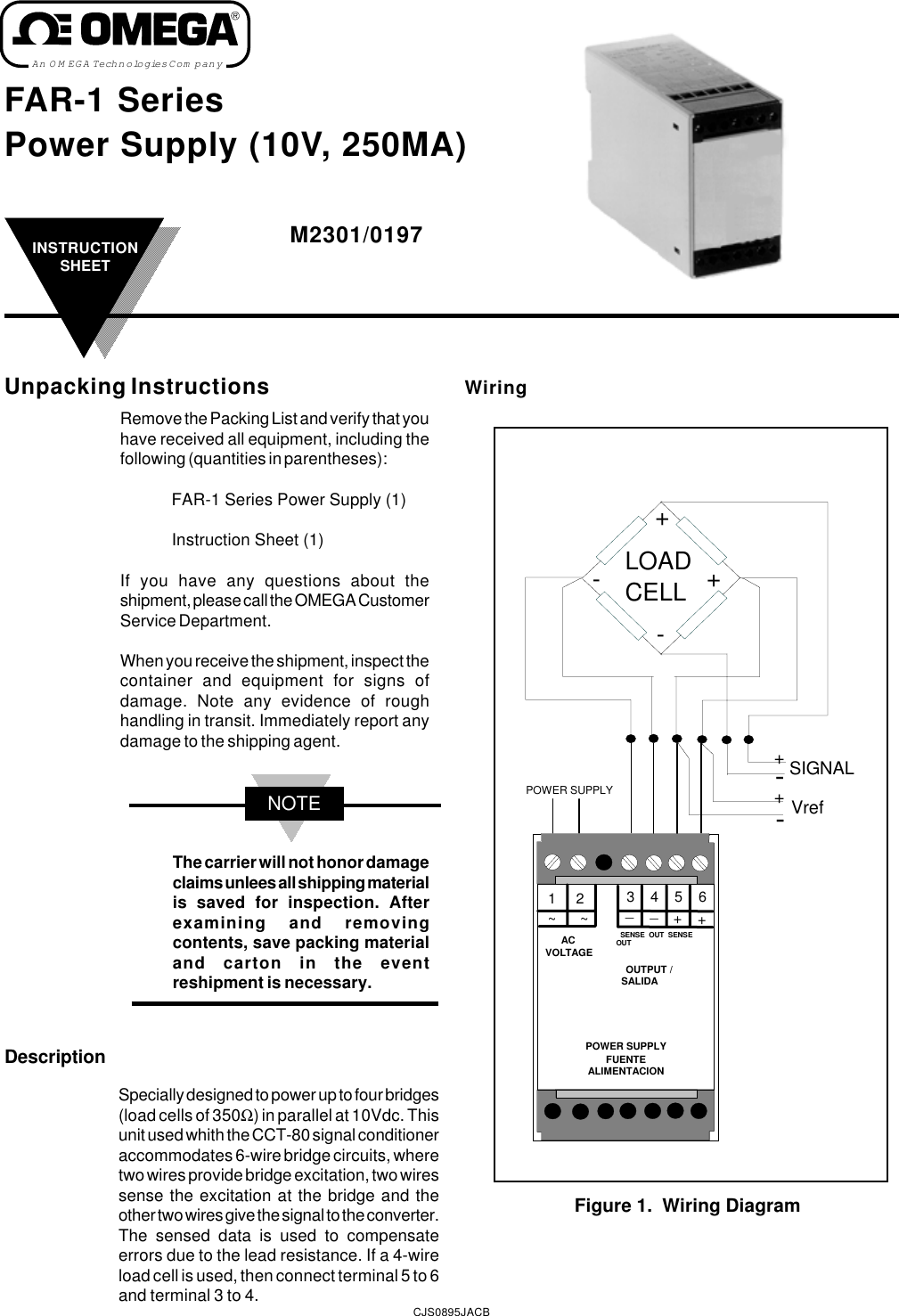 Omega Speaker Systems Far 1 Series Users Manual Power Supply 10v Wiring Diagram 250ma