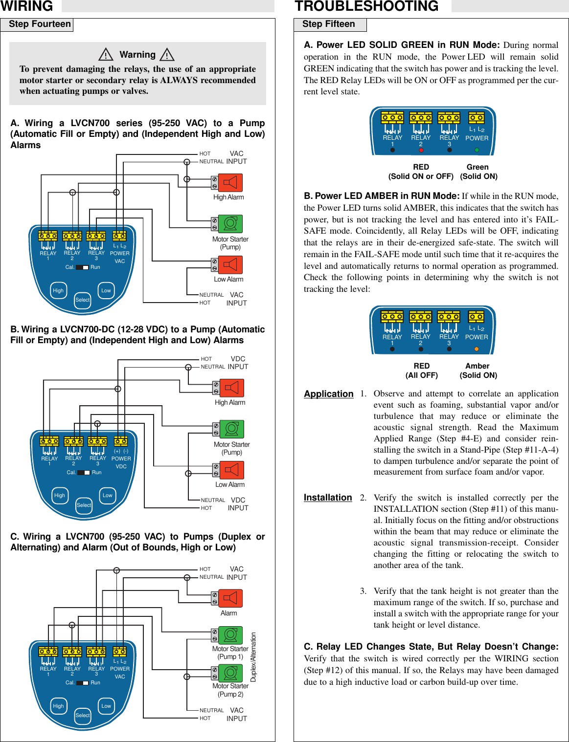 Omega Vehicle Security Lvcn700 Series Users Manual Multi Point Relay Level Switch Page 9 Of 10