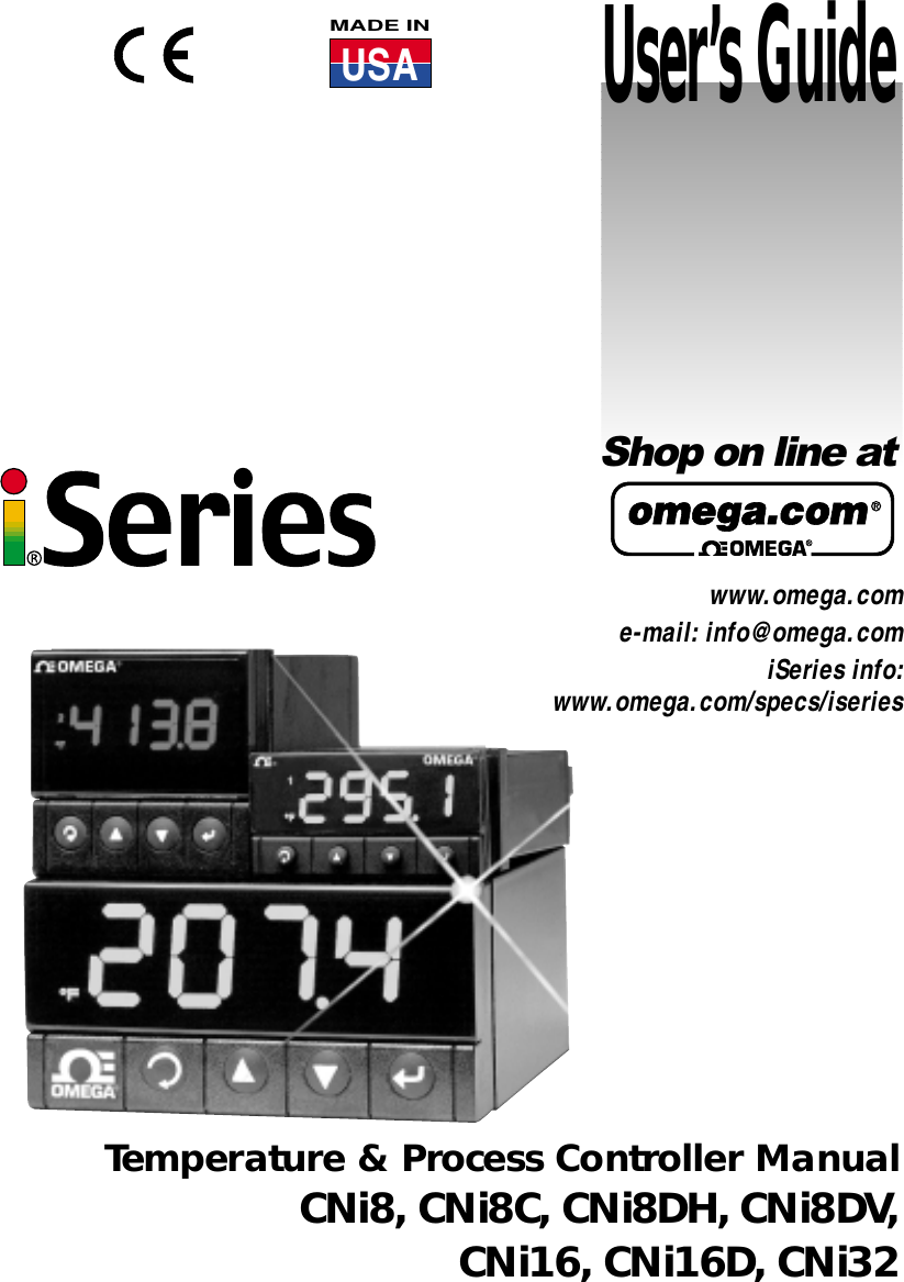 Omega Cni16 Users Manual on