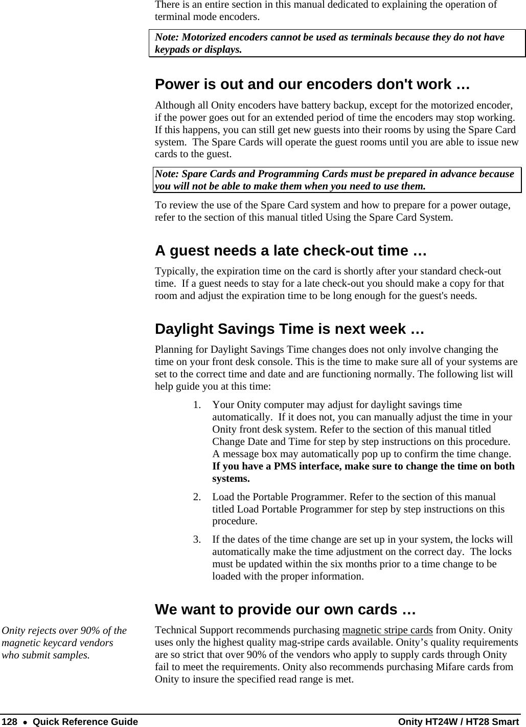 onity card ht22 manual