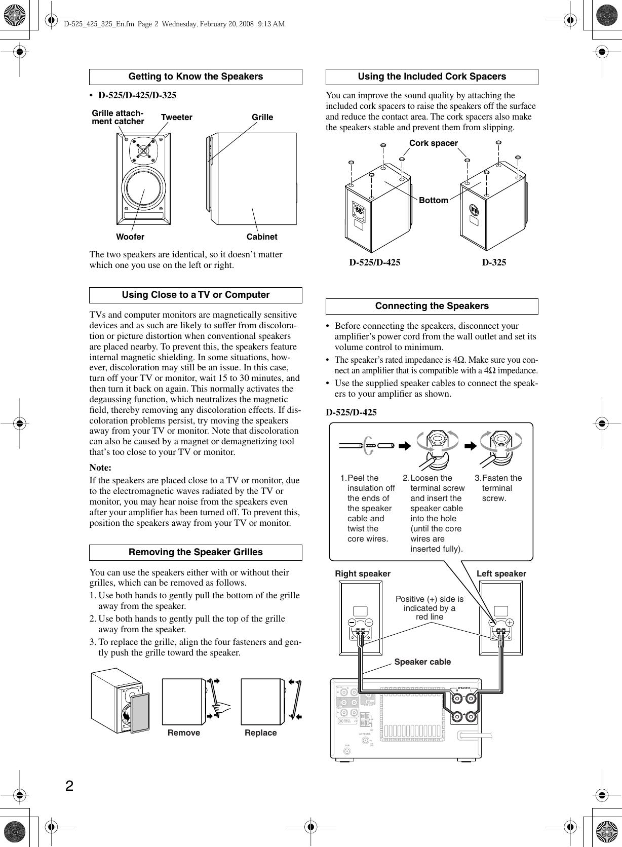 Onkyo D 325 Users Manual 525 425 En Wiring Diagram Page 2 Of 4