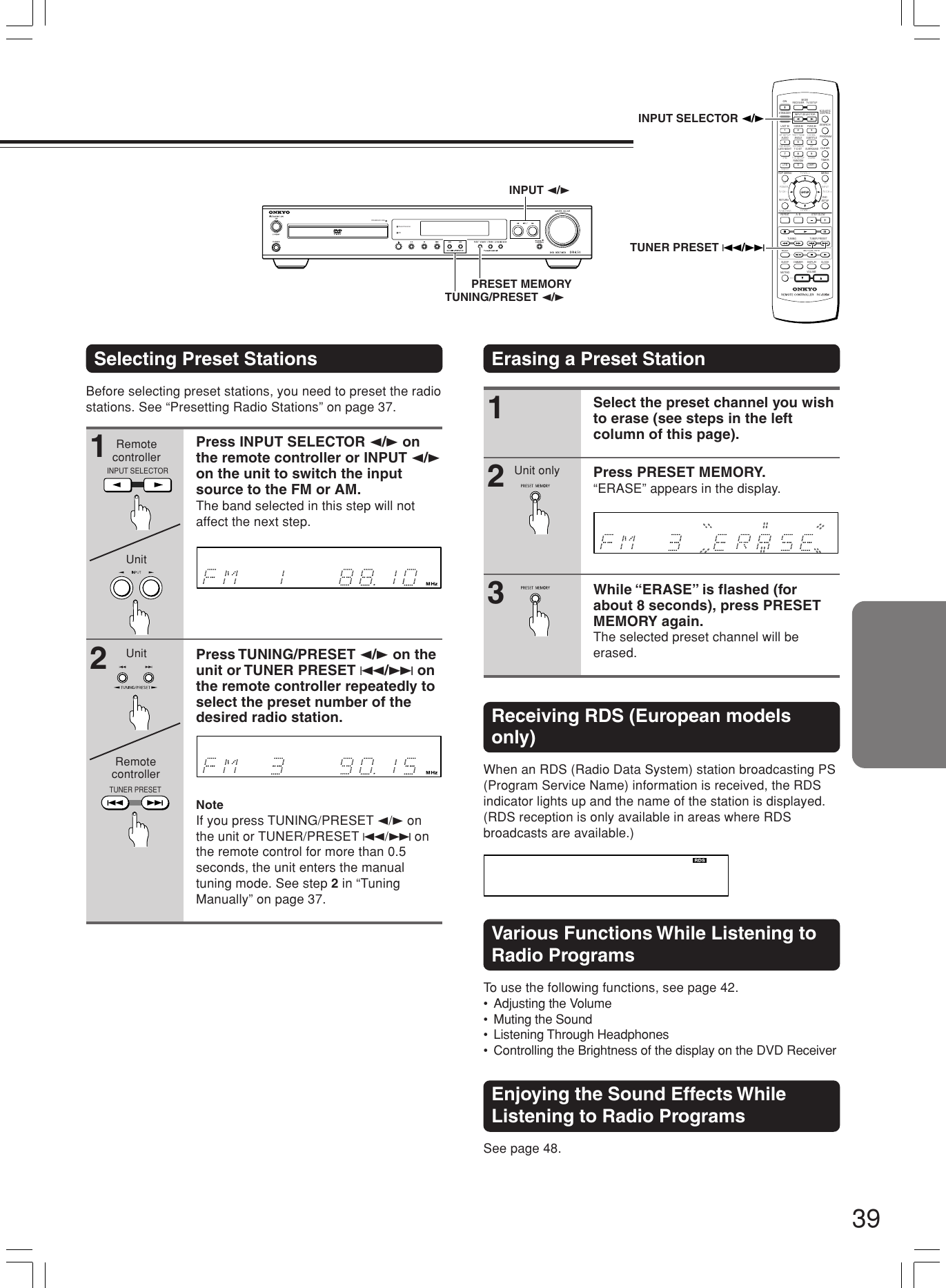 Onkyo Dr L50 Users Manual #DRL50 0E 01 01 p65