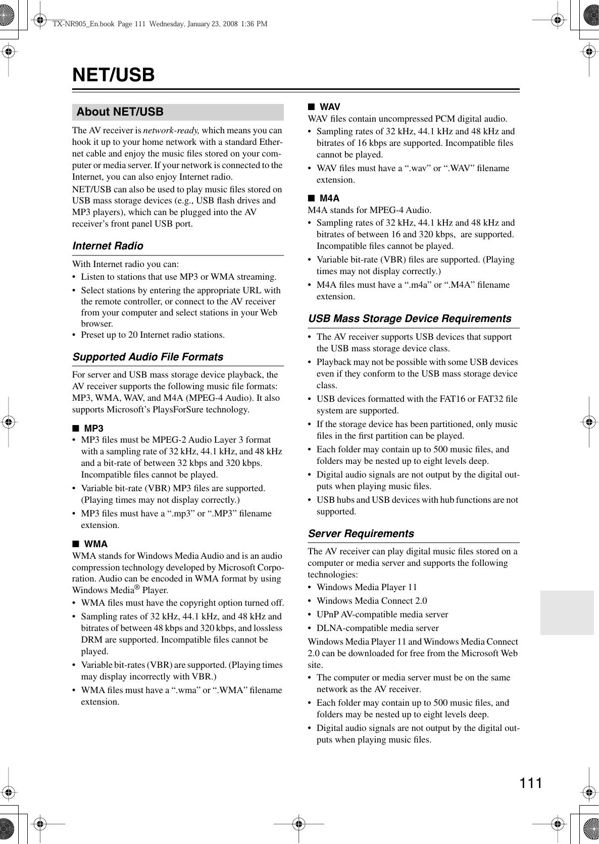 Onkyo Tx Nr905 Users Manual NR905_En