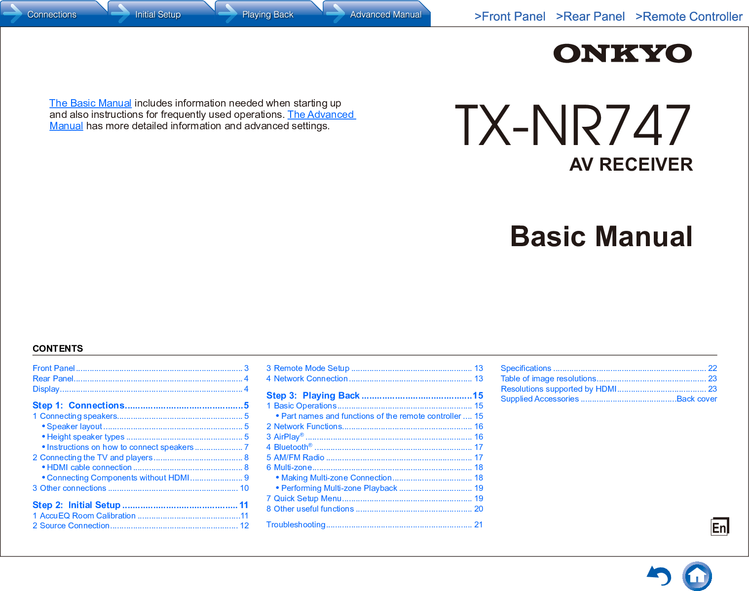 Onkyo TX NR747 User Manual To The E1e3fc02 f052 4841 a7cd 7b99c9c90ad2