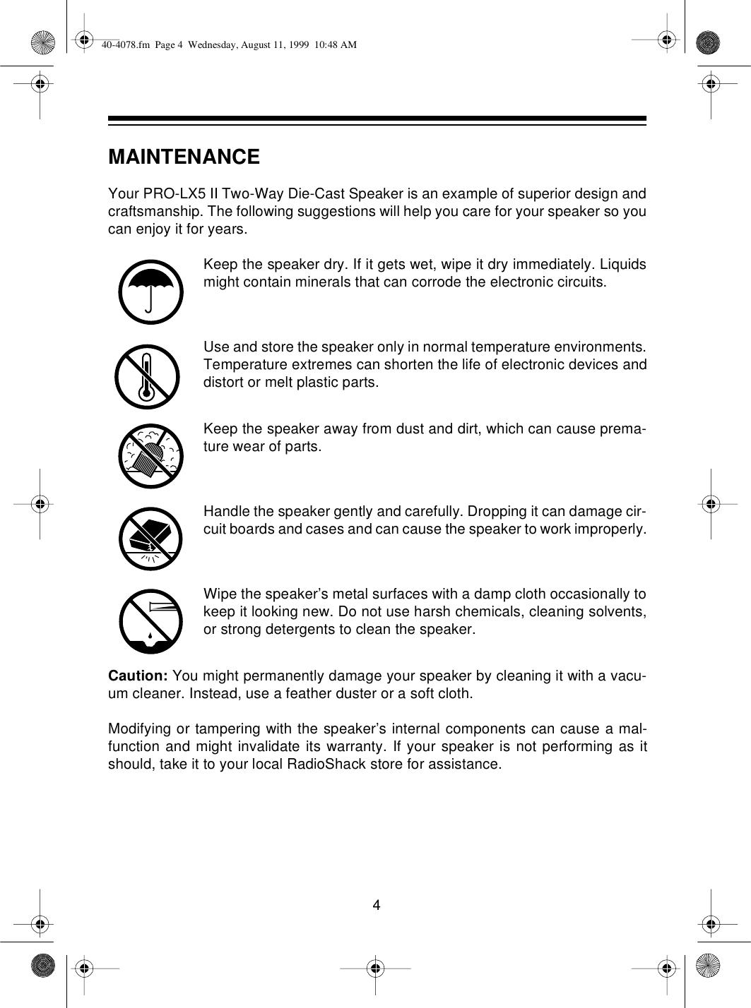 Optimus Pro Lx5 Ii Users Manual 40 4078