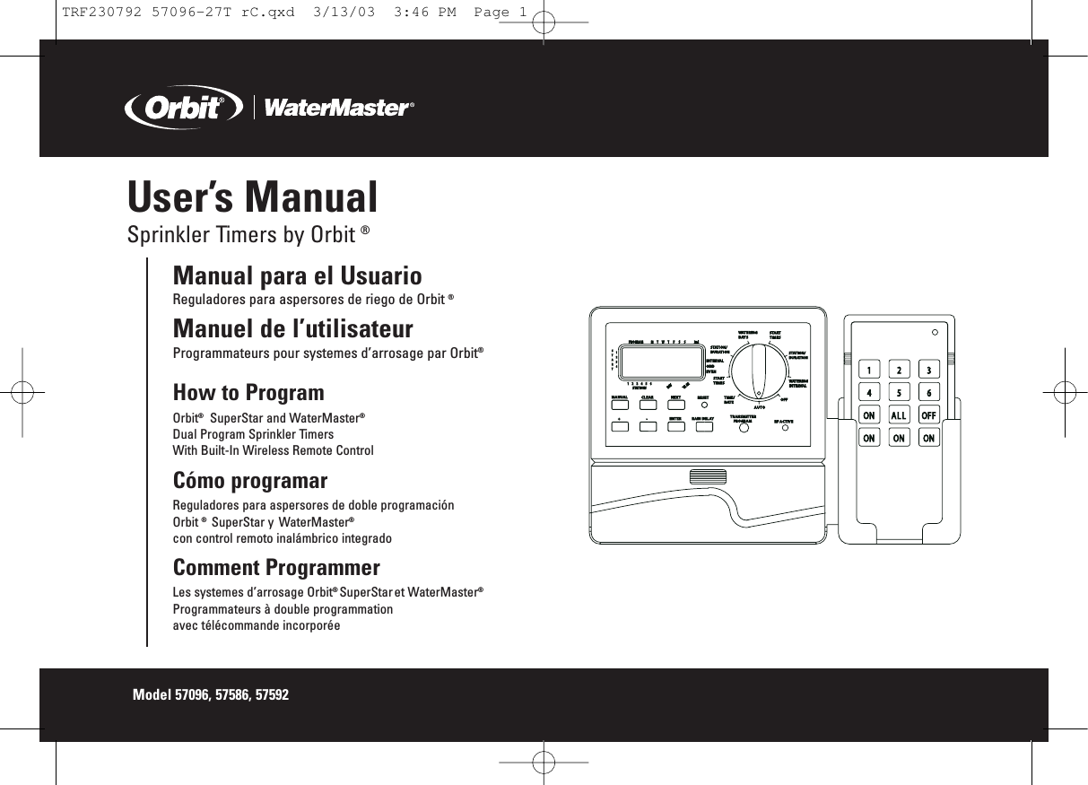 Remote Irrigation Control Page 2 Manual Guide