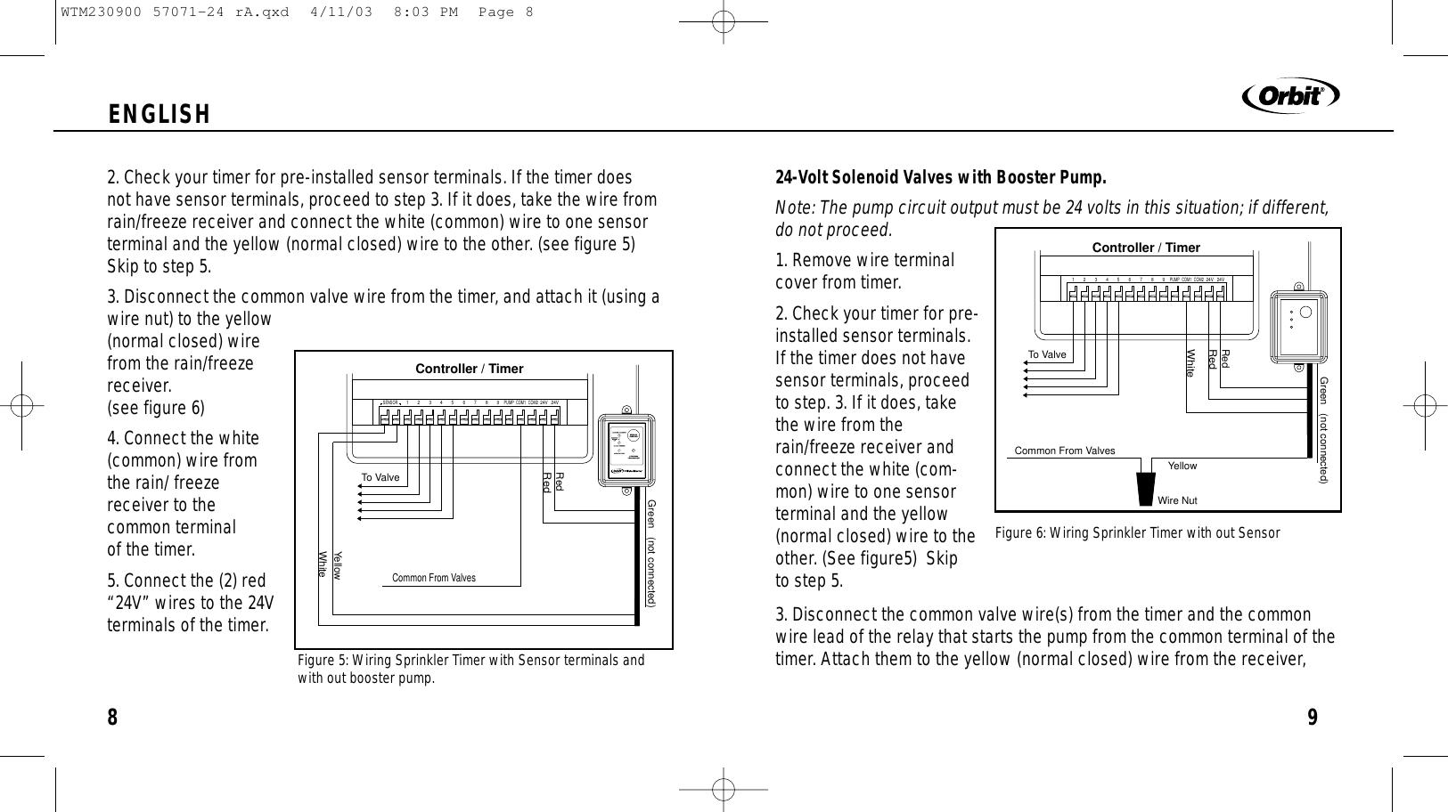 Orbit Sprinkler Timer 57896 Manual Wiring Diagram