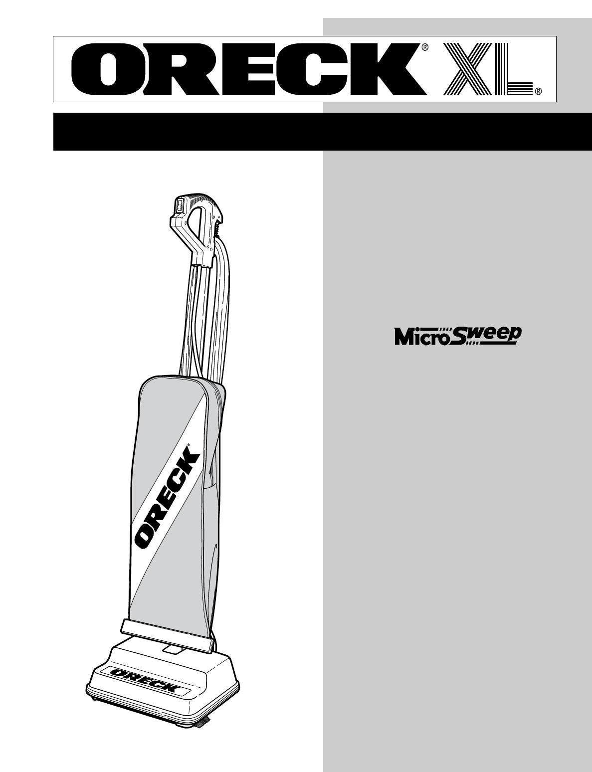 Oreck Xl U2505rh Users Manual Touch Wiring Diagram