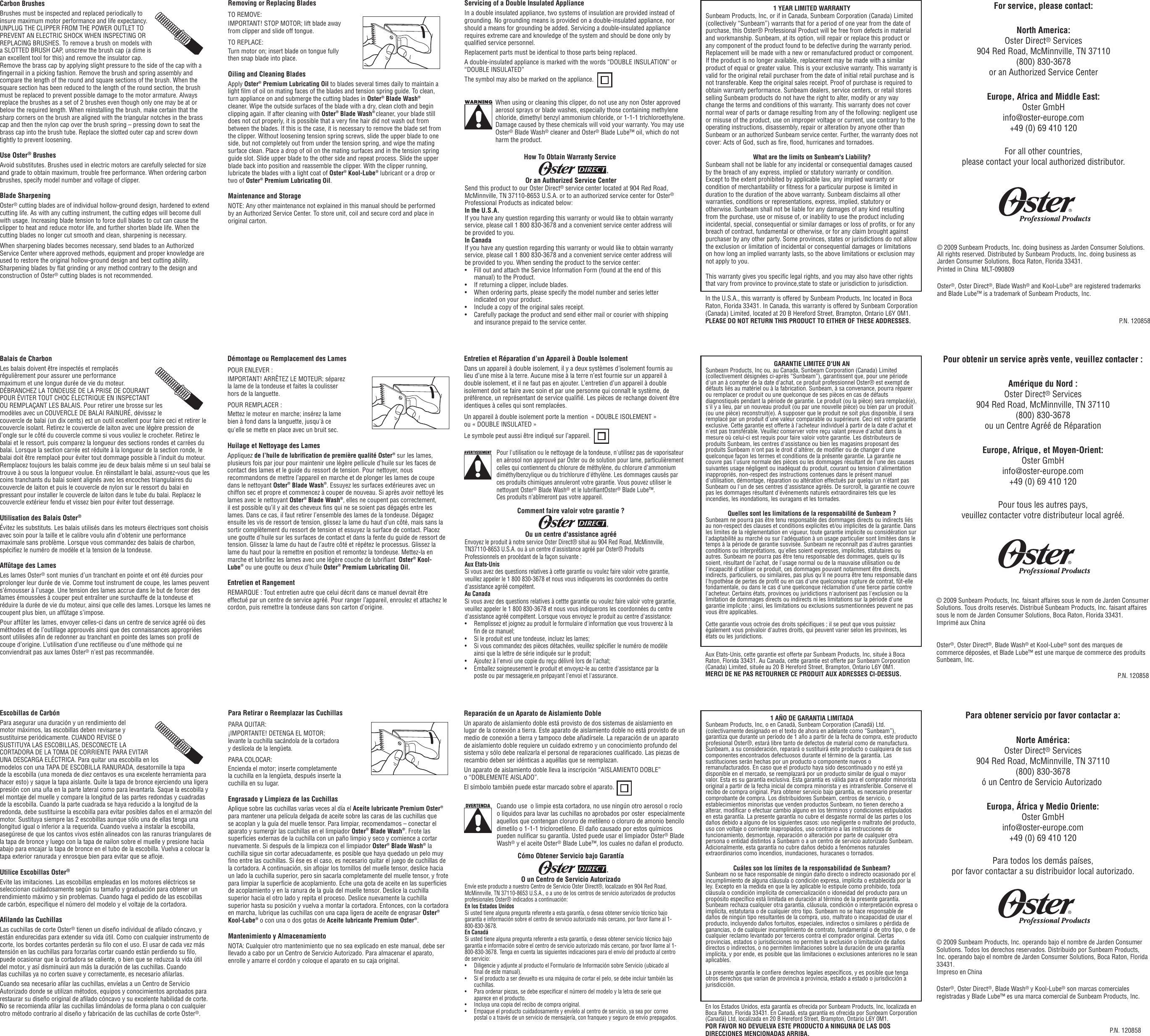 Oster 76077 Users Manual Sbb09030classic76ib52512back