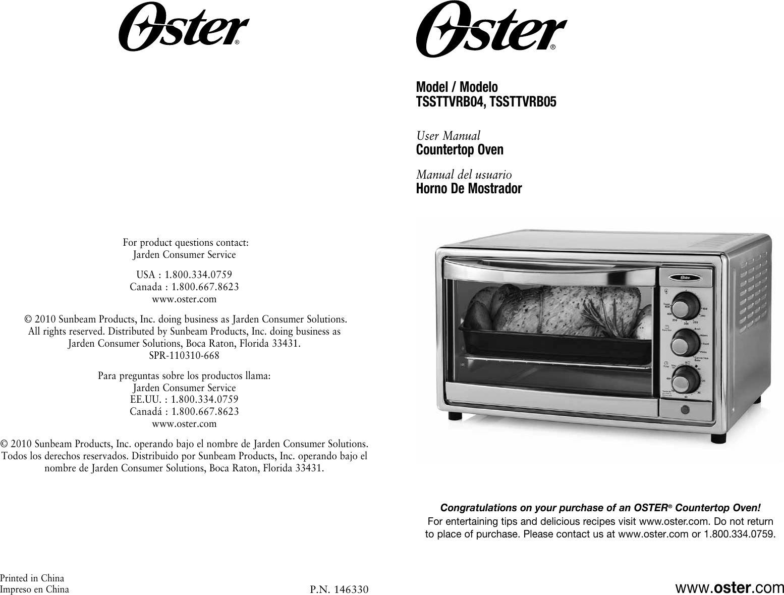 Oster Tssttvrb04 Users Manual
