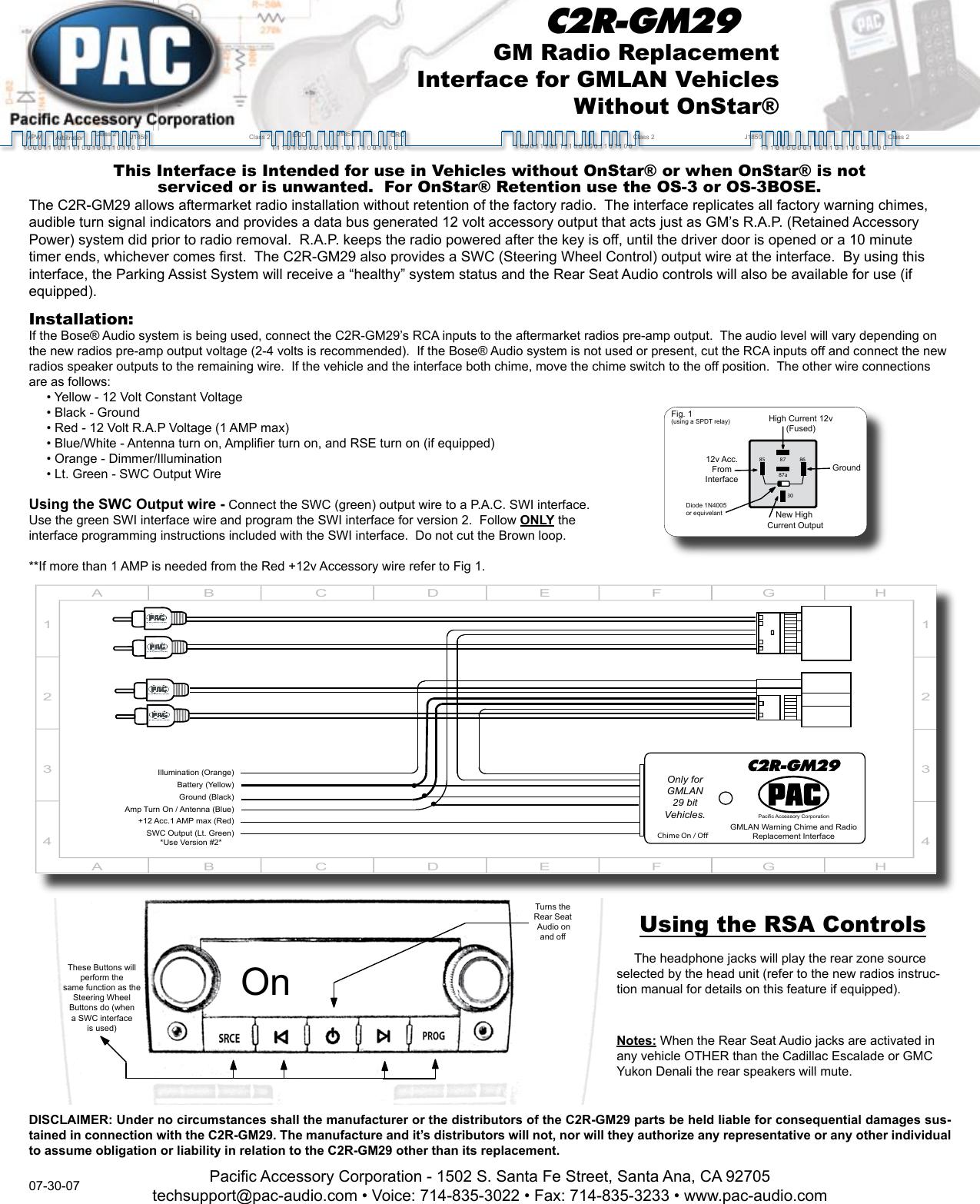 Pac C2r Gm29 User Manual To The D27a34b8 05c3 4e8a B2e5 586c8200e67a Hhr Onstar Wiring Diagram