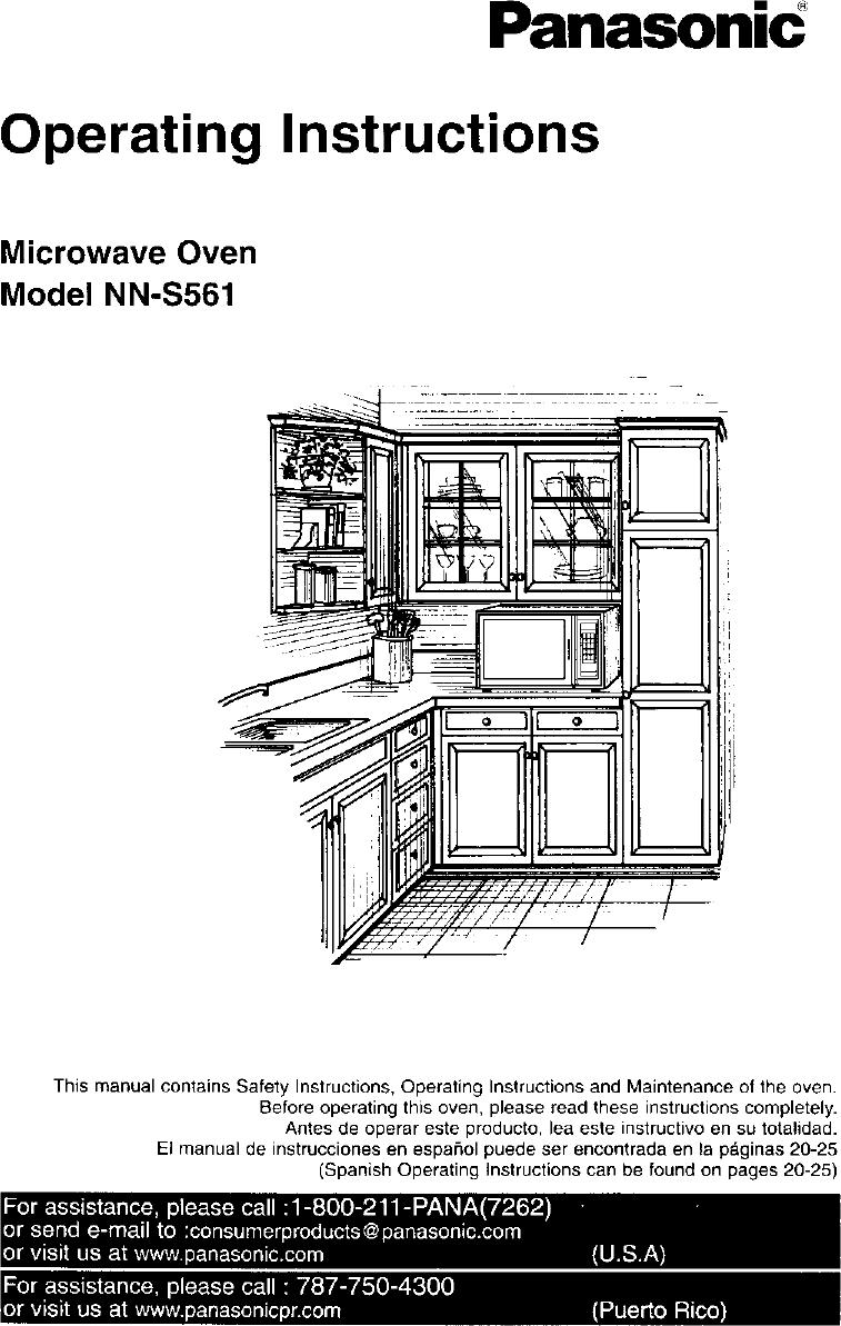 PANASONIC Countertop Microwave Manual L0106170