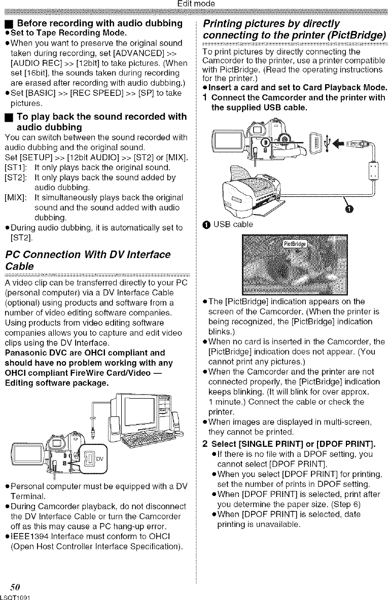 PANASONIC Digital Camcorder Manual L0702328
