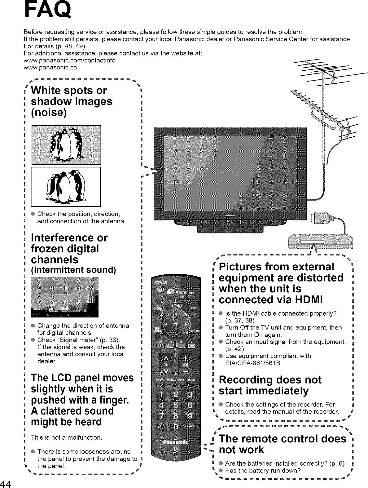 PANASONIC LCD Television Manual L0803310