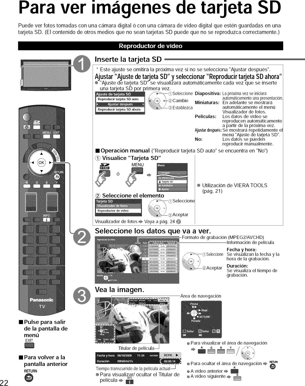 PANASONIC Plasma Television Manual L0904485