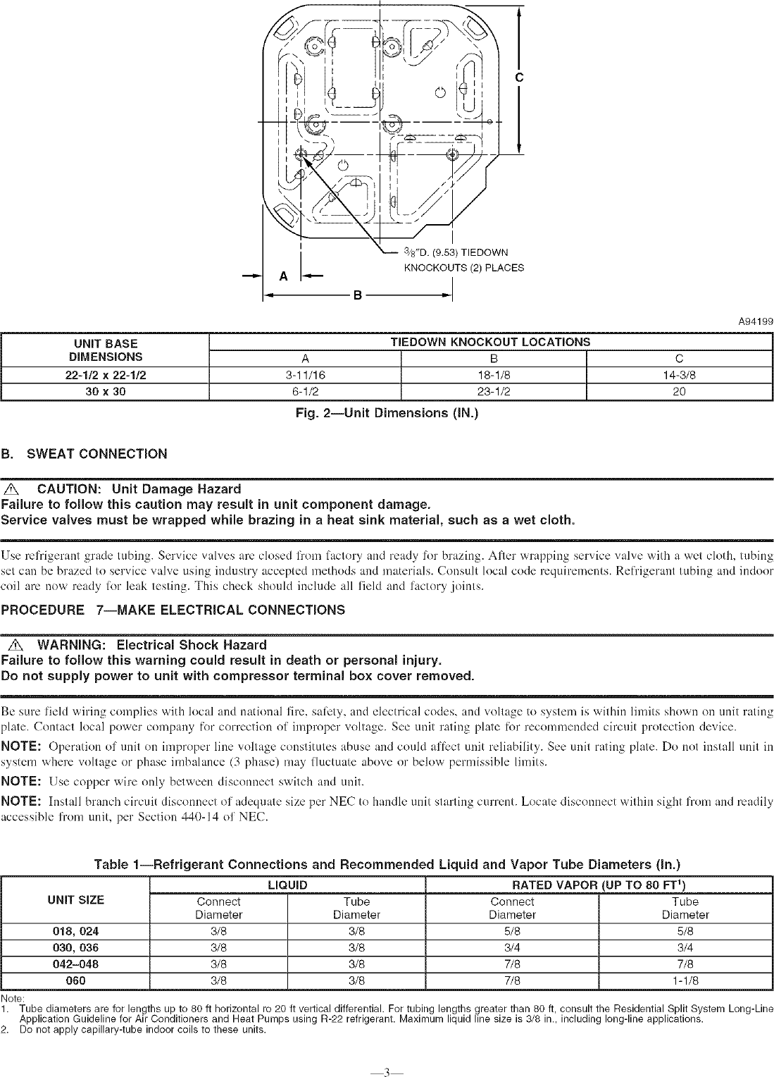 Page 3 of 6 - PAYNE Air Conditioner/heat Pump(outside Unit) Manual