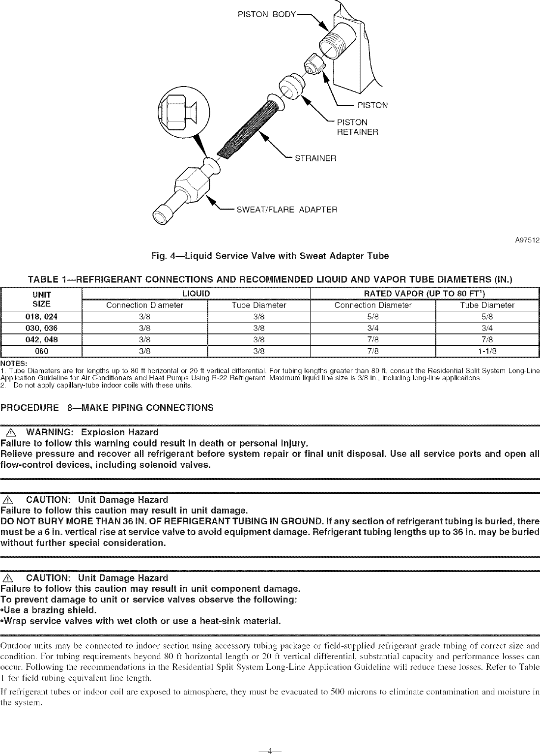 Page 4 of 10 - PAYNE Air Conditioner/heat Pump(outside Unit) Manual