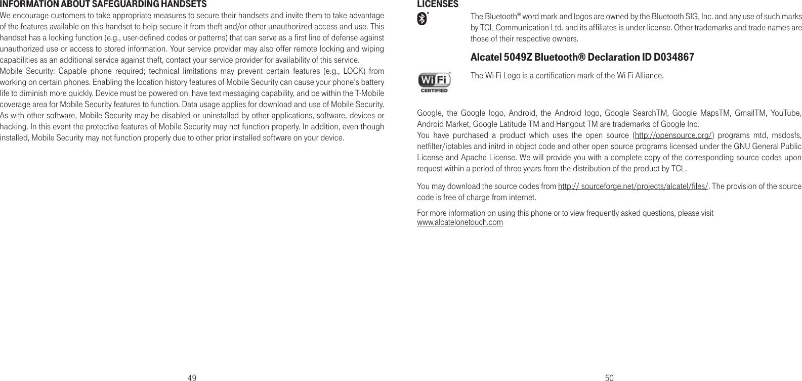 Alcatel A30 FIERCE UserManual User Guide english