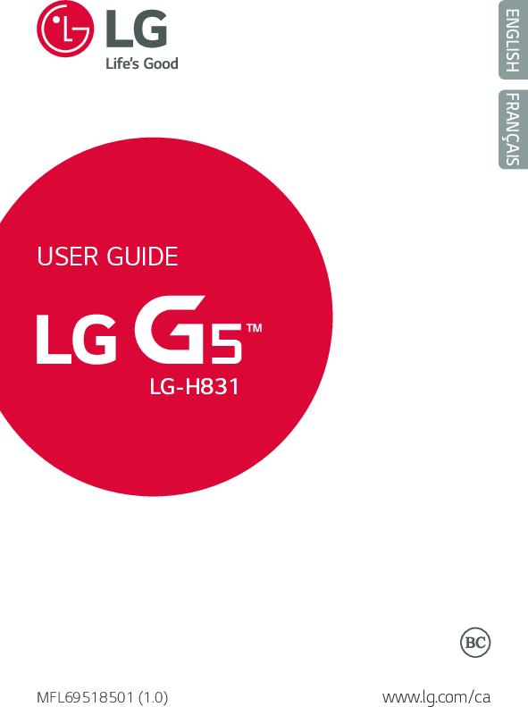 User Guide LG G5 H831