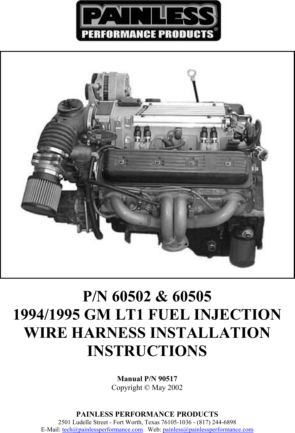 Painless Performance 60502 Users Manual 90517 Gm Wiring Harness Schematic