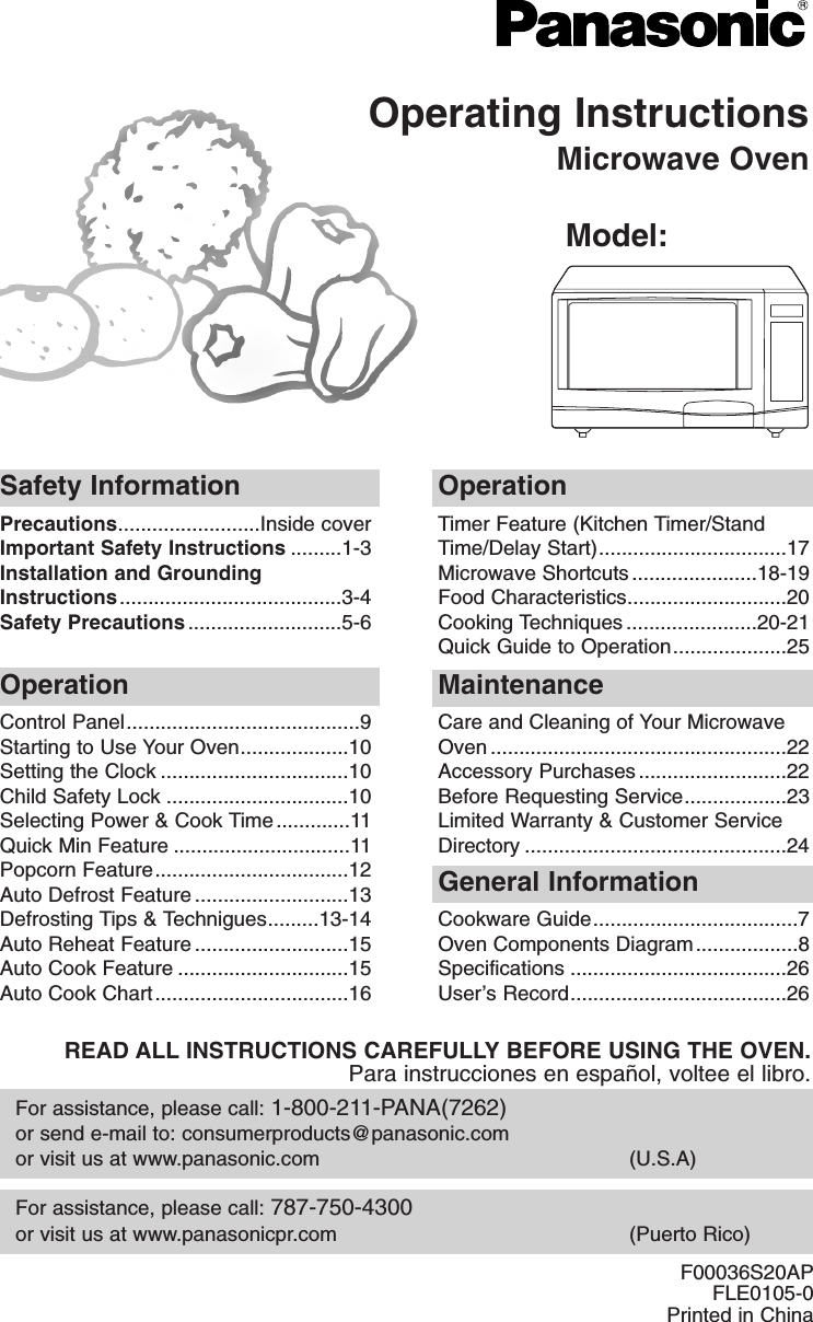 panasonic appliance of america ap7g81 microwave oven user manual rh usermanual wiki panasonic microwave oven nn gt221w user manual panasonic microwave oven nn-gd371m user manual