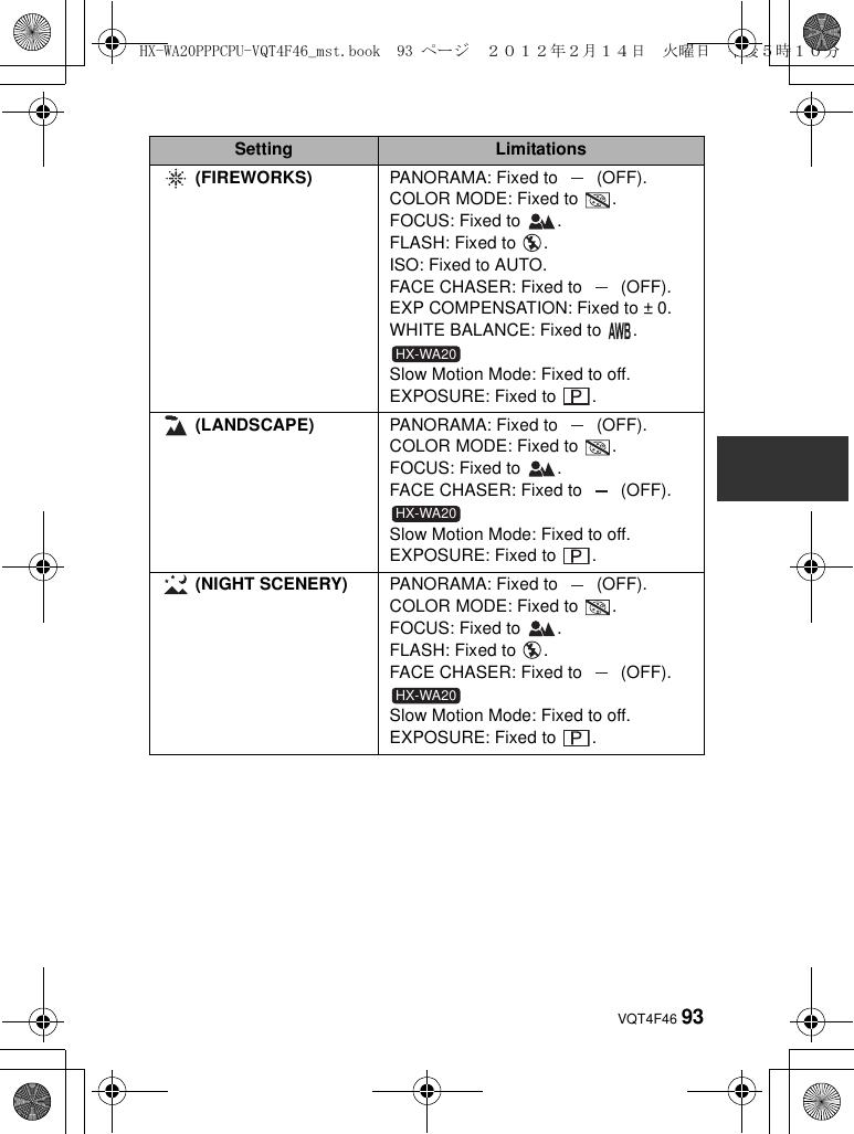 Panasonic Hx Dc2 Owners Manual